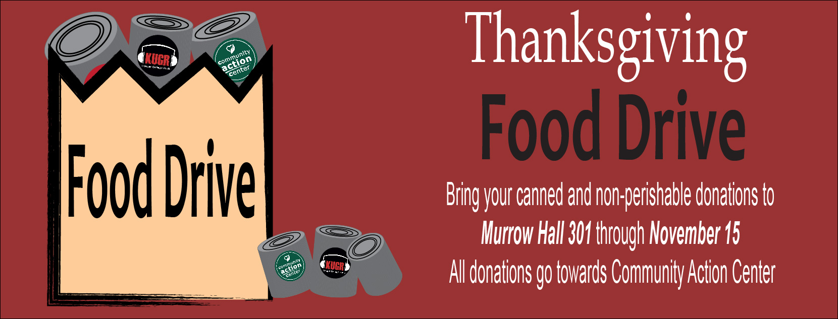 Help us support a local food bank!